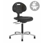 Throna Cleanroom stoel - Intensief gebruik-  glijders - hoogte 51/86 cm