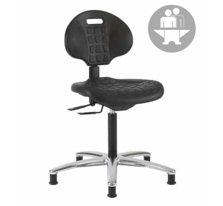 Cleanroom stoel - Intensief gebruik-  glijders - hoogte 51/86 cm