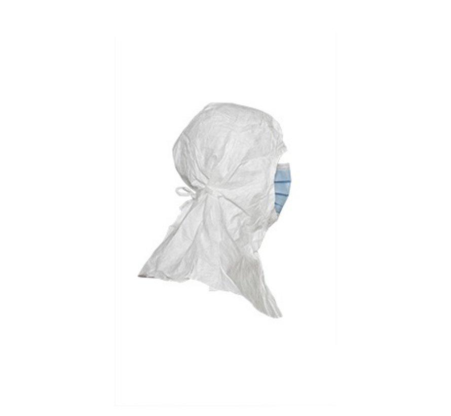 DuPont Tyvek IsoClean hoofdkap met masker (steriel) - 9820MS