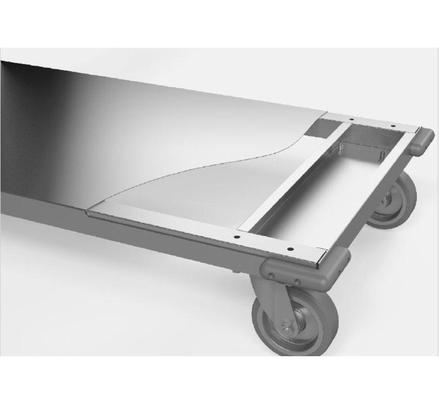 RVS cleanroom transport trolley max 200 kg