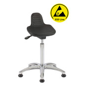 Throna Cleanroom zit-sta stoel - ESD - glijders - hoogte 50/85 cm