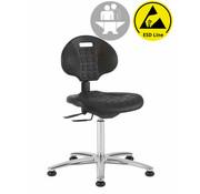 Throna Cleanroom stoel - ESD - intensief gebruik - glijders - hoogte 51/86 cm