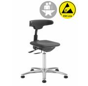 Throna Cleanroom stoel - ESD - intensief gebruik - glijders - hoogte 50/85 cm