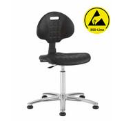 Throna Cleanroom stoel - ESD - glijders - hoogte 49/84 cm