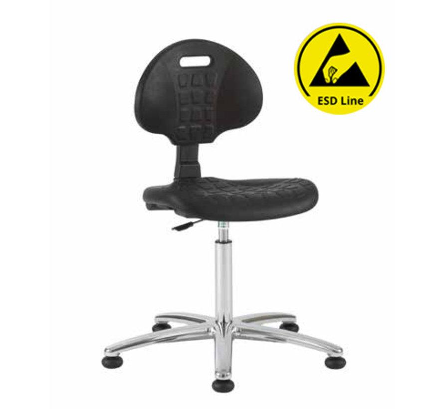 Cleanroom stoel - ESD - glijders - hoogte 49/84 cm
