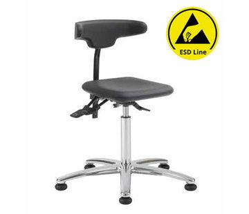 Throna Cleanroom - stoel - ESD - glijders - hoogte 50/85 cm