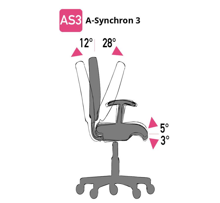 Cleanroom - stoel - ESD - glijders - hoogte 50/85 cm