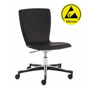 Throna Cleanroom stoel - ESD - HEPA filter - wielen - hoogte 43/56 cm (HEPA)