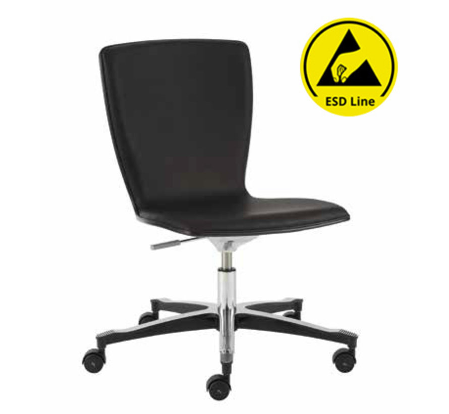Cleanroom stoel - ESD - HEPA filter - wielen - hoogte 43/56 cm (HEPA)