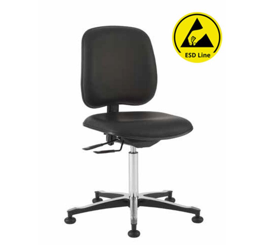 Cleanroom stoel - ESD - HEPA filter - hoogte 44/87 cm (HEPA)