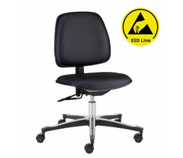Throna Cleanroom stoel - ESD - HEPA filter - wielen - hoogte 44/87 cm