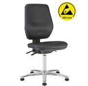 Throna Cleanroom stoel - ESD - glijders - hoogte 50/85 cm