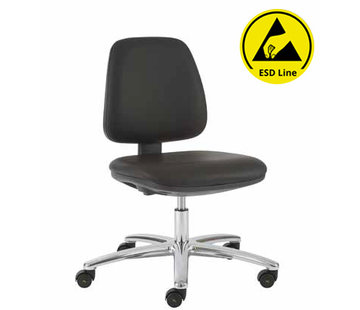 Throna Cleanroom stoel - ESD - hoogte 42/85 cm