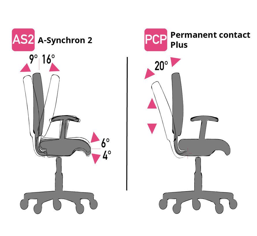 Cleanroom stoel - Intensief gebruik-  wielen - hoogte 42/55 cm