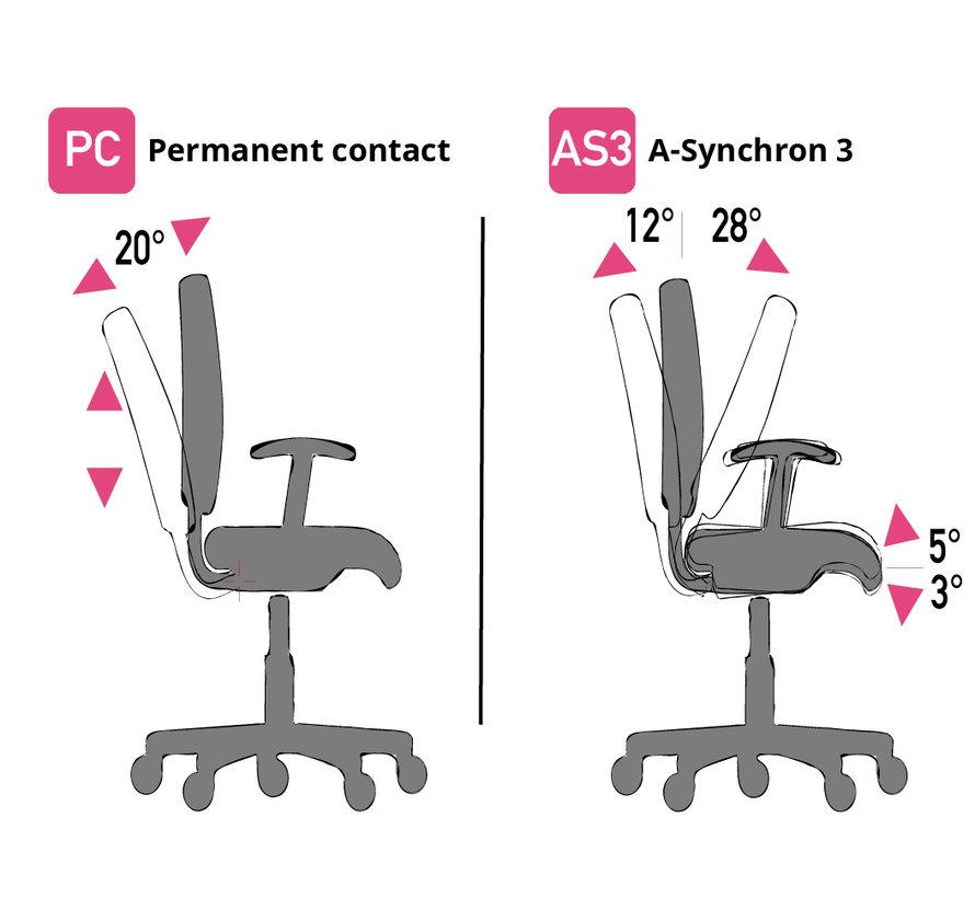 Cleanroom - stoel - glijders - hoogte 49/84 cm