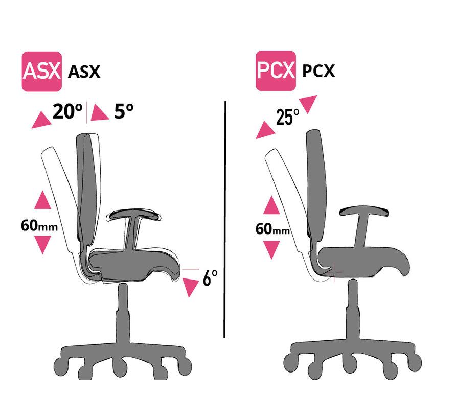 Cleanroom stoel- wit frame - wielen - hoogte 42/55 cm (Pro)