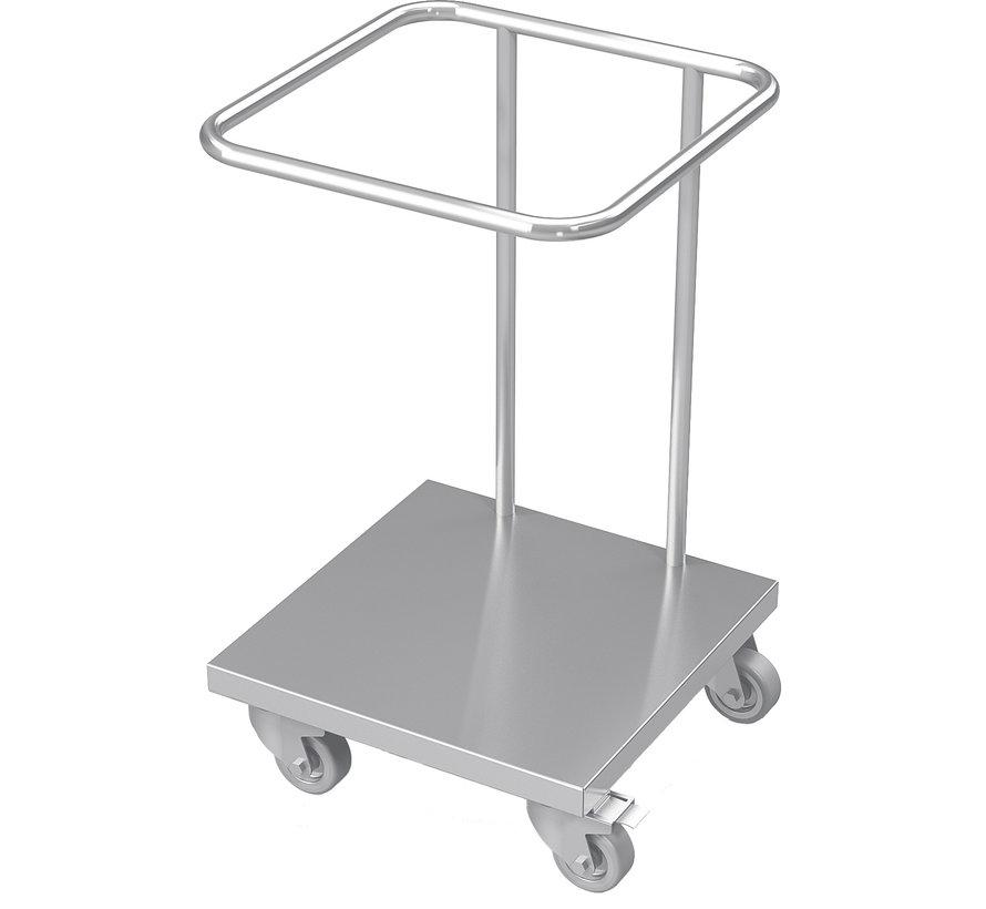 RVS cleanroom trolley voor plastic zakken