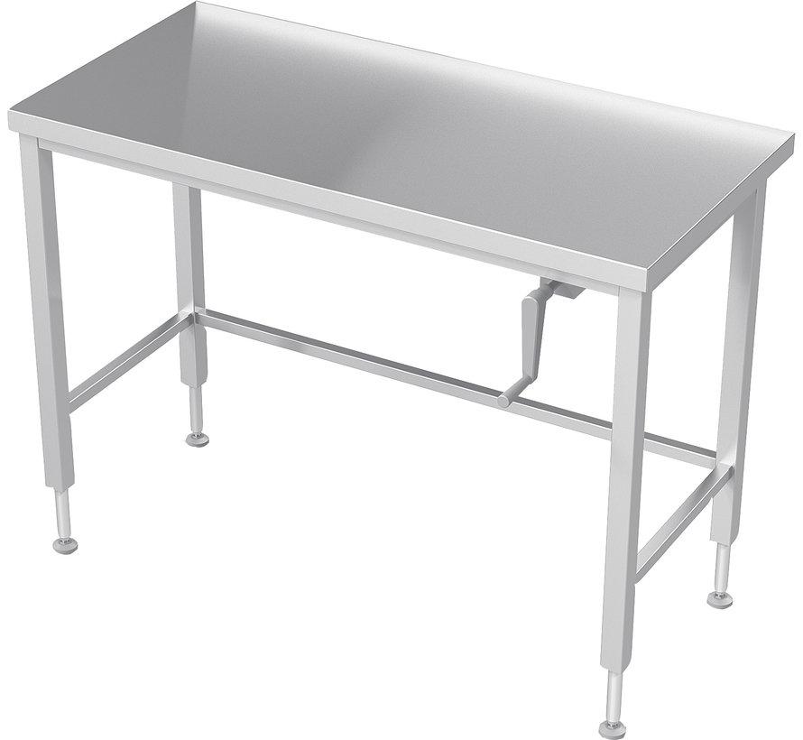 RVS cleanroom werktafel handmatig in hoogte verstelbaar
