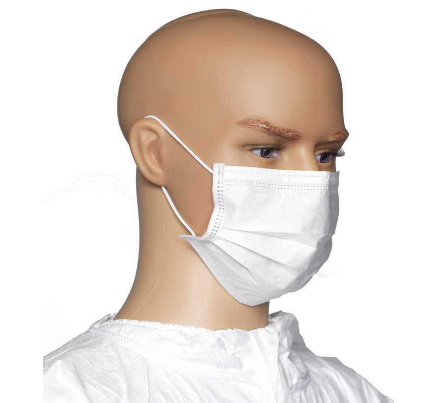Cleanroom mondkapje type 'earloops'