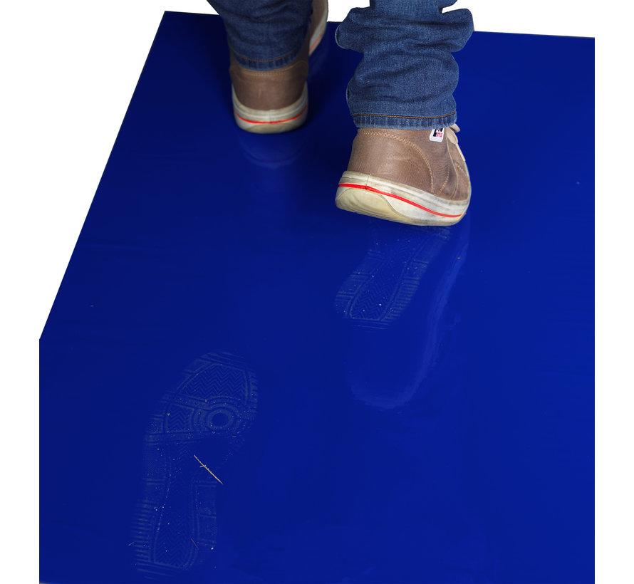 Cleanroom kleefmat 66 x 115 cm blauw   (10 stuks per doos)