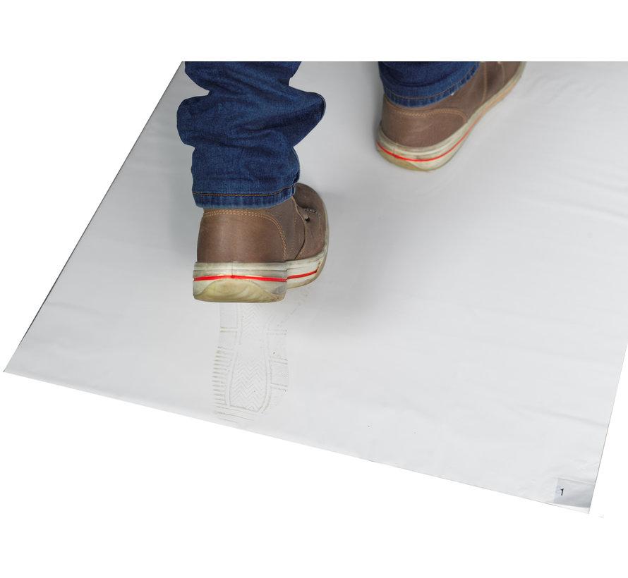 Cleanroom kleefmat 45 x 92 cm wit  (10 stuks per doos)
