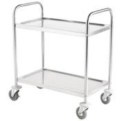 ProCleanroom RVS cleanroom service trolley twee legborden
