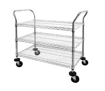 ProCleanroom Cleanroom service trolley drie draadlegborden