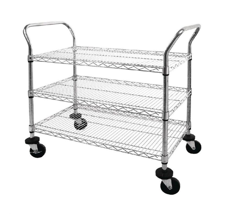 Cleanroom service trolley drie draadlegborden (zelfmontage)