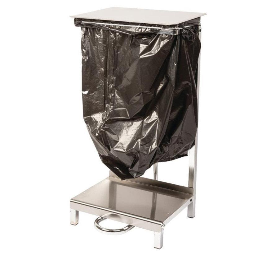 RVS cleanroom afvalzakhouder
