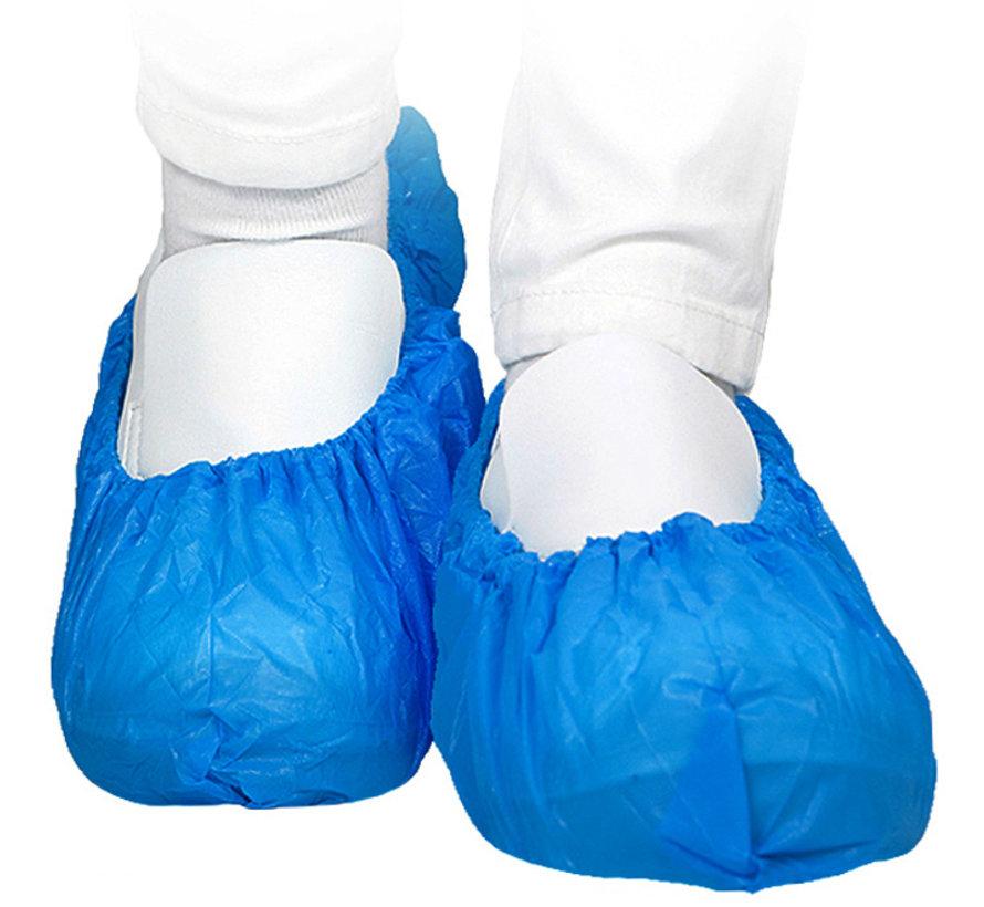 Blauwe overschoen van CPE met antislip en ESD