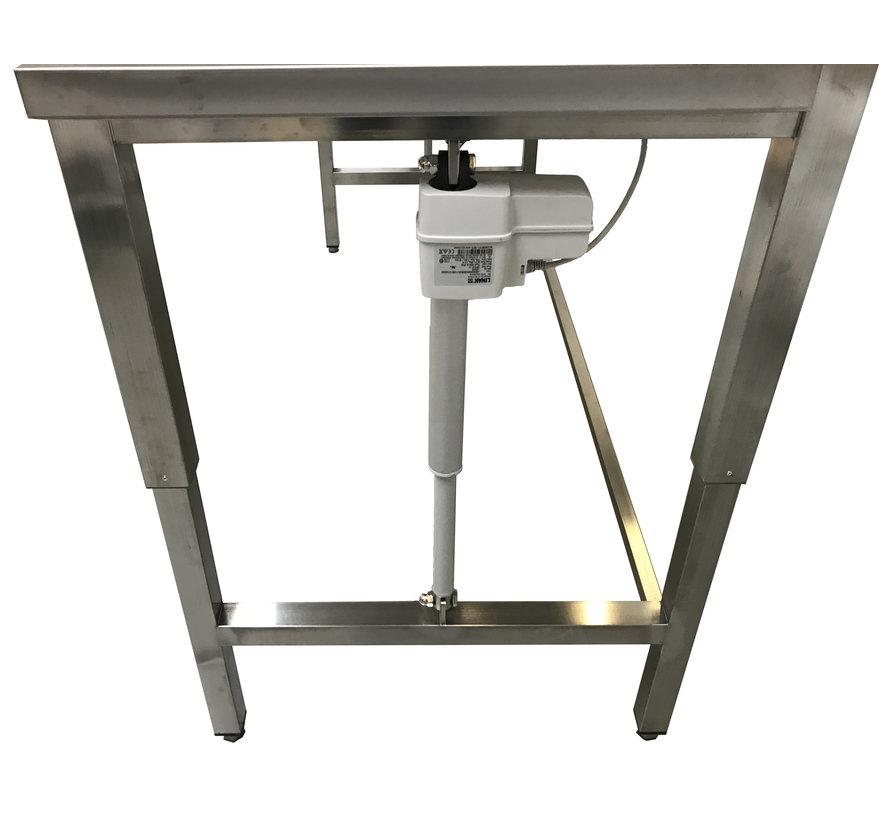 RVS cleanroom werktafel elektrisch in hoogte verstelbaar