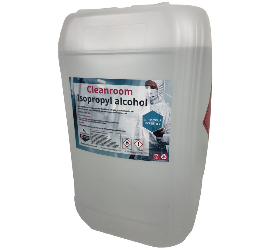 Cleanroom 70% Isopropyl alcohol  en 30% DI water 25 liter jerrycan