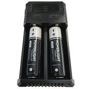 ProCleanroom Dubbele batterij oplader PDL-Powerlight