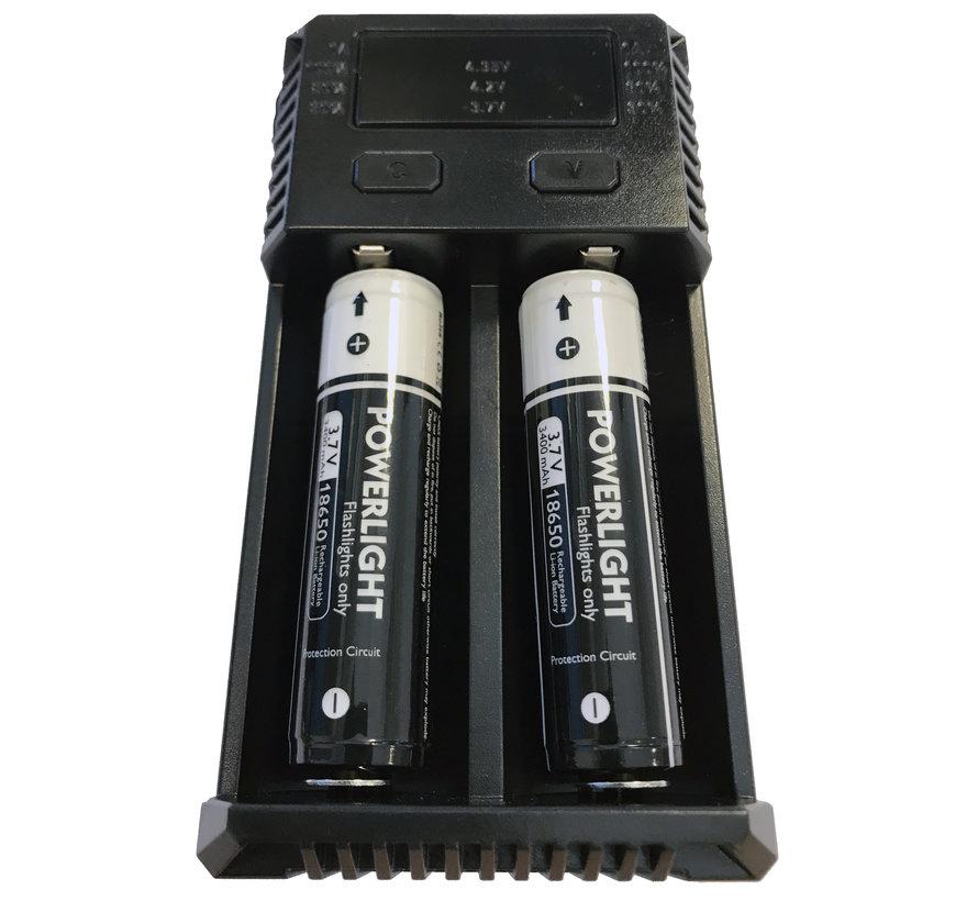 Dubbele batterij oplader PDL-Powerlight
