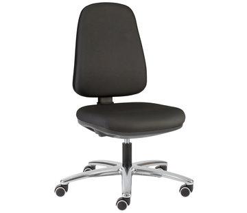 Throna Cleanroom - stoel - wielen - hoogte 42/57 cm (Standaard)