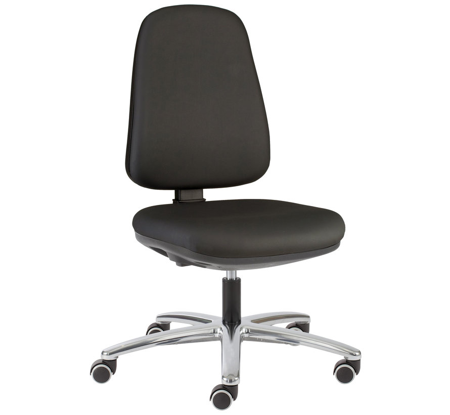 Cleanroom - stoel - wielen - hoogte 42/57 cm