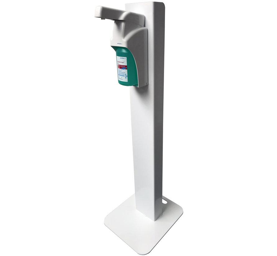 Desinfectiezuil met hand / elleboog dispenser van Schülke