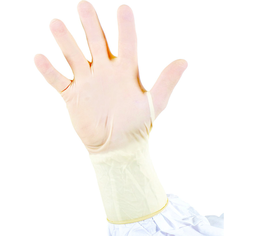 Latex cleanroom handschoenen 300mm - 100 stuks