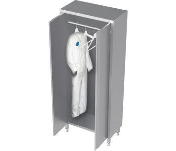 ProCleanroom RVS cleanroom kast voor kleding met draaideuren