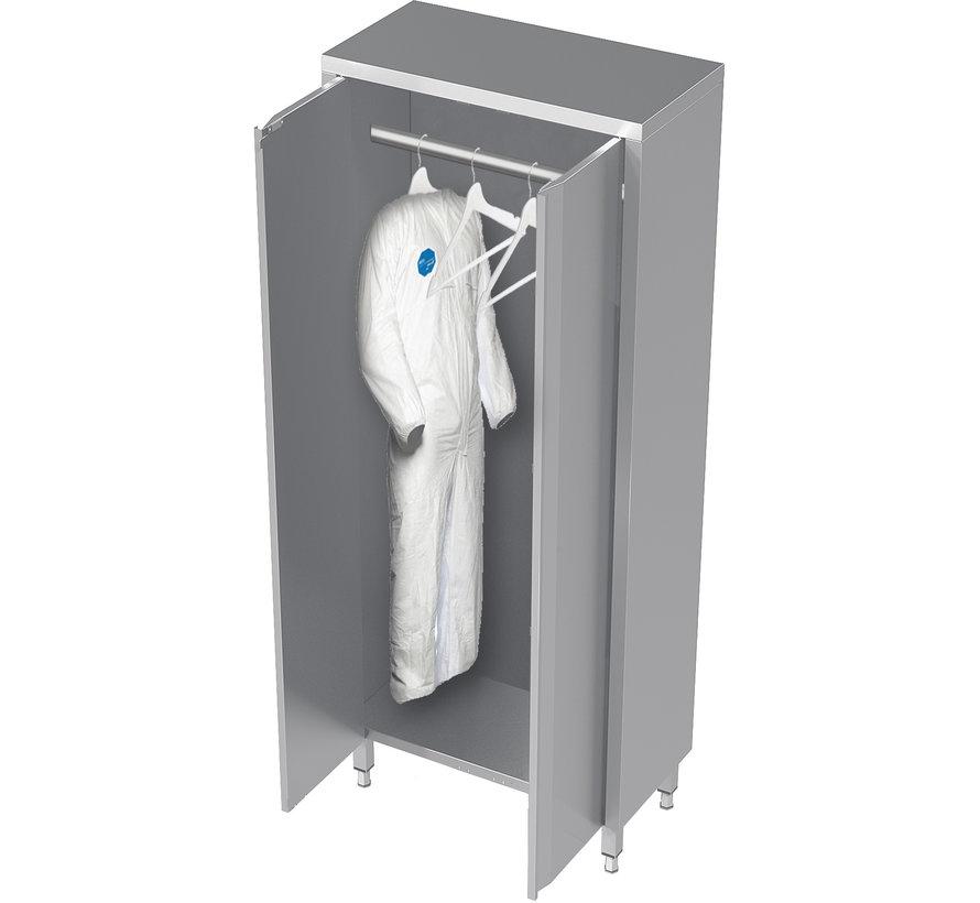 RVS cleanroom kast met draaideuren voor kleding