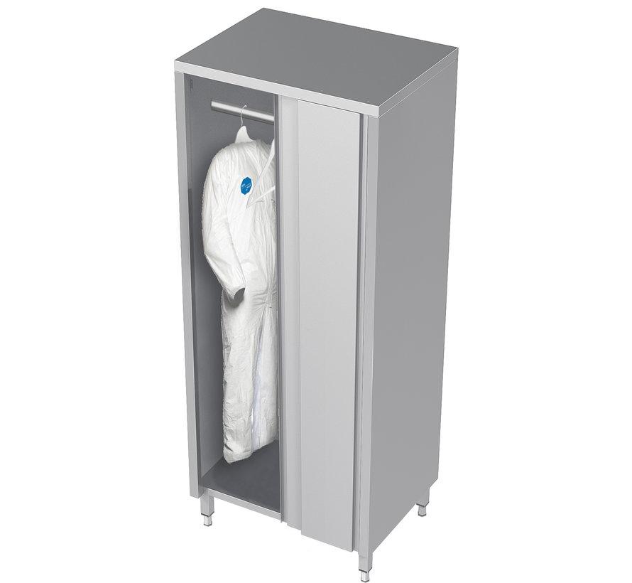 RVS cleanroom kast met schuifdeuren voor kleding