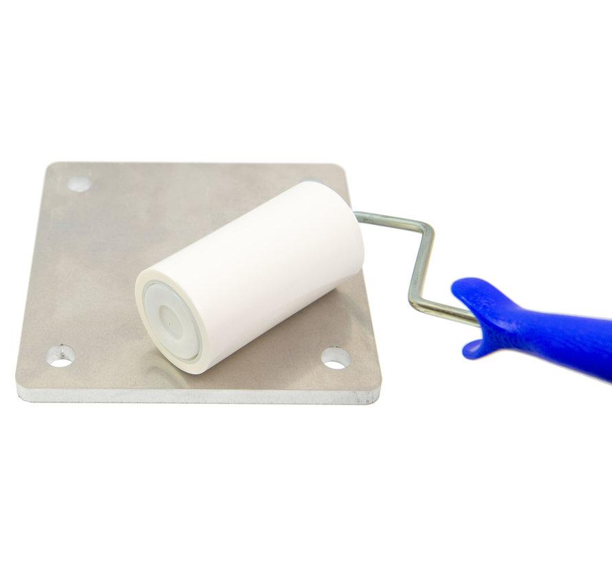 Cleanroom kleefroller 10 cm breed (10 rollen + 2 houders)