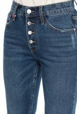 F.A.M. Jeans F.A.M. 'Patricia'- Button - Stone