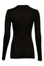 Moss Copenhagen Top T-Shirt lange mouw 'Mona' Lyocell - Zwart