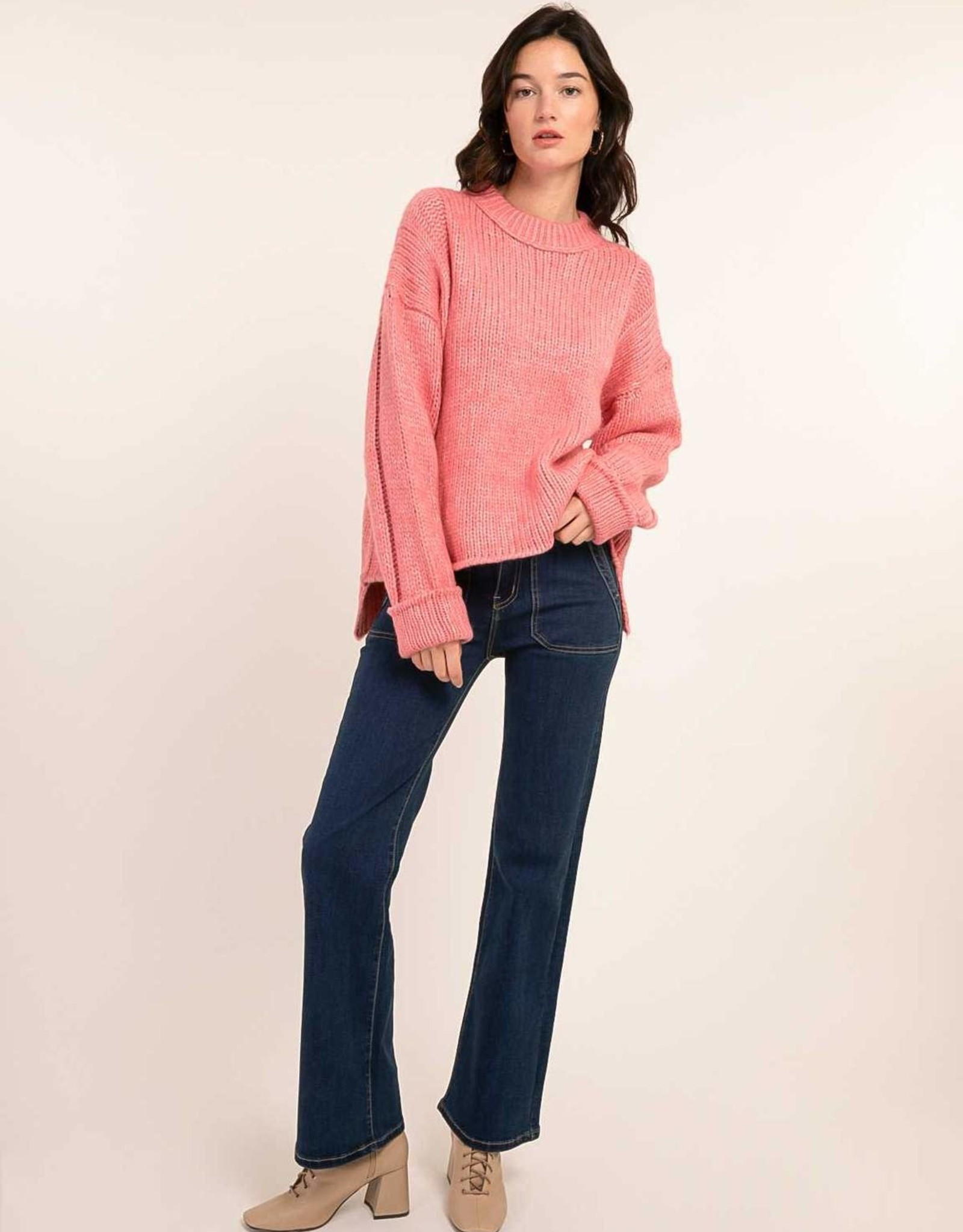 Cherry Paris Pull 'Galhao' - Roze