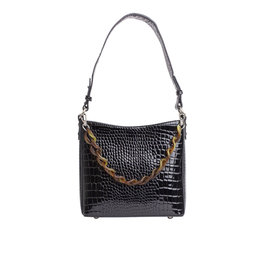 HVISK Handtas  'Amble Croco Small' - Black - Hvisk