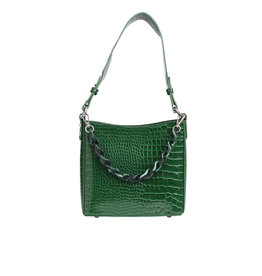 HVISK Handtas  'Amble Croco Small' - Green - Hvisk
