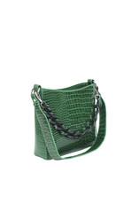 HVISK Handtas  'Amble Croco Small' - Green - Hvisk