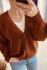 The Golden House Ribbed Cardigan 'Josephine'