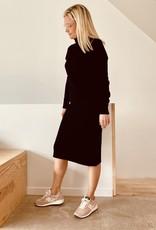 The Golden House Tricot jurk 'Manon' - Taille Unique - Zwart
